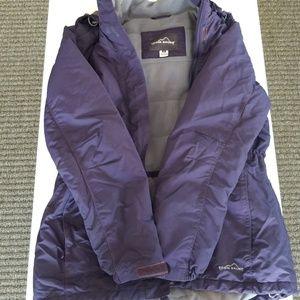 Eddie Bauer Parka Jacket, Size Small, Purple